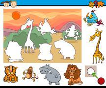 educational game for preschool kids - stock illustration