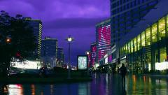 Festive illumination on the day of the city of Moscow 868 years Stock Footage