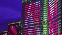 festive illuminations in honor of the 868 years of the city of Moscow - stock footage
