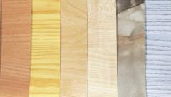 Samples of laminated wood coatings Stock Footage