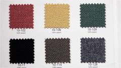 Samples of upholstery textiles for office chairs and furniture Stock Footage