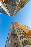 Modern multistory residential buildings - stock photo