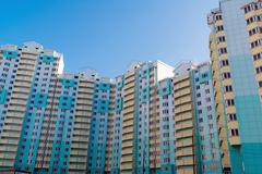 Stock Photo of Modern multistory residential buildings