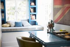 Modern sitting room interior - stock photo
