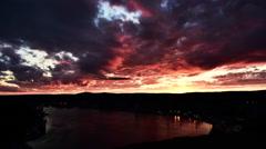 St. John's City Sunset Timelapse Stock Footage