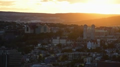 City of St. John's, Newfoundland during sunset. Stock Footage