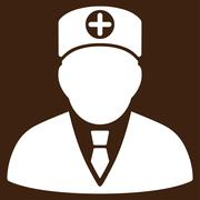 Head Physician Icon - stock illustration