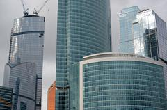 MOSCOW. RUSSIA - MAY 23.2015. The Moscow International Business Center. MIBC  Stock Photos