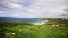 Sennen, Cornwall, Coast Timelapse Stock Footage