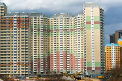 KRASNOGORSK, RUSSIA - APRIL 18,2015. Krasnogorsk is a city and center of Kras Stock Photos