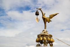 Kinnaree, Mythical female bird Stock Photos