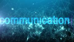 Network connections & communication text. HD. Stock Footage
