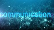 Stock Video Footage of Network connections & communication text. HD.