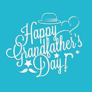 Happy Grandfather's day lettering Stock Illustration
