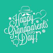 Stock Illustration of Happy Grandparents' Day lettering