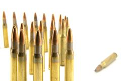 Ammunition for rifle Stock Photos