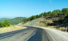 Stock Photo of Anatolia landscape. Speedway along of the Taurus mountains. Turkey