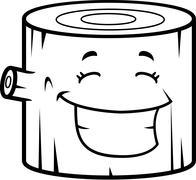 Log Smiling - stock illustration