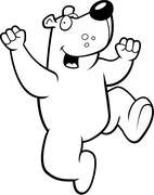 Bear Jumping Stock Illustration