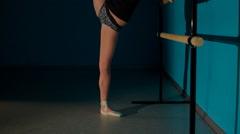 Ballerina training - stock footage
