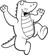 Alligator Jumping Stock Illustration