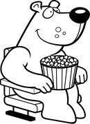 Cartoon Bear Movies - stock illustration