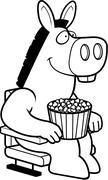 Cartoon Donkey Movies Stock Illustration