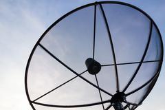 Black Satellite dish - stock photo