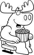 Cartoon Moose Movies - stock illustration
