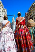Stock Photo of Unknown falleras dress from Valencia Fallas fest