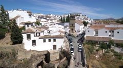 "Traffic on the ""Puente Romano"" bridge.  Ronda, Spain. Stock Footage"