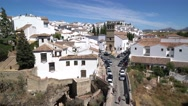 "Stock Video Footage of Traffic on the ""Puente Romano"" bridge.  Ronda, Spain."