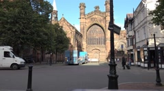 4k chester cathadral old english church buildings Stock Footage