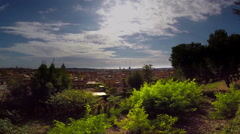 Rome, Italy- AUGUST 18, 2015: panaroma city Stock Footage