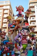 Fallas fest figures in Valencia traditional Spain - stock photo