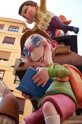 Fallas fest figures in Valencia traditional Spain Stock Photos