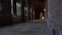 4k inside Chester cathedral old English church buildings Stock Footage