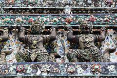 Yak statue at wat arun - stock photo