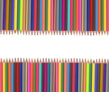 Colour pencils isolated on white Stock Photos