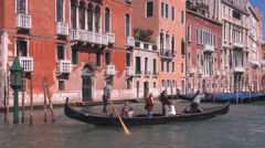 Stock Video Footage of POV Point of view boat pass Grand Canal Venice nautical transportation romantic