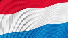 Holland flag develops waves. Looped. Full HD 1080. - stock footage
