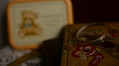 Close Up of Bedside Table Stock Footage
