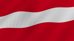 Flag of Austria is developing waves. Looped. Full HD 1080. Stock Footage