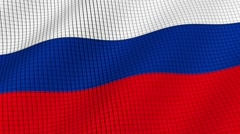 The flag of Russia is developing waves. Looped. Full HD 1080. Stock Footage
