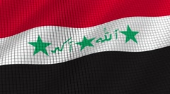 The flag of Iraq is developing waves. Looped. Full HD 1080. Stock Footage