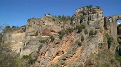 Tajo Gorge Pan - stock footage