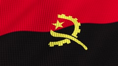 The flag of Angola is developing waves. Looped. Full HD 1080. - stock footage