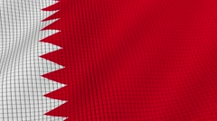 The flag of Bahrain is developing waves. Looped. Full HD 1080. Stock Footage