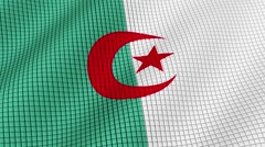 Flag of Algeria is developing waves. Looped. Full HD 1080. Stock Footage