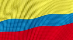 The flag of Colombia is developing waves. Looped. Full HD 1080. Stock Footage